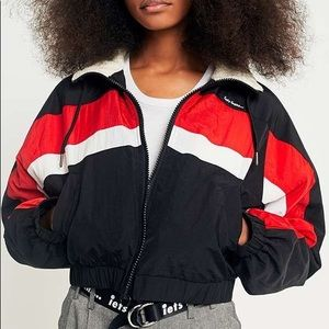 Urban Outfitters Nylon Shell Cropped Lined Jacket